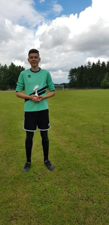 Geriausias turnyro vartininkas - Domas Sakalauskas (Pasvalys)