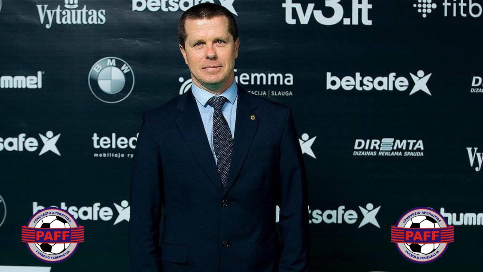 Darius Butkus perrinktas kitai PAFF prezidento kadencijai